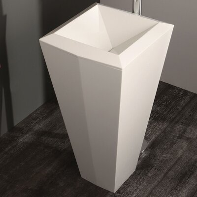 Crystal Stone 18 Pedestal Bathroom Sink