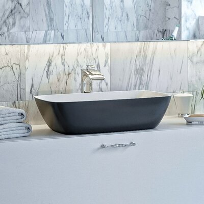 Arabella Stone Rectangular Vessel Bathroom Sink