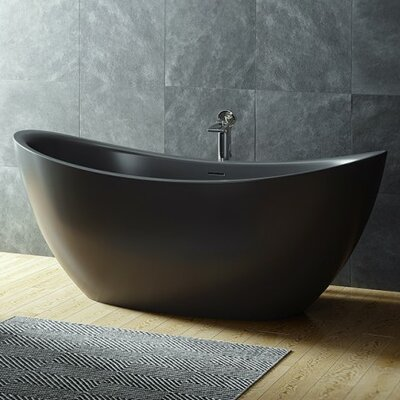 Purescape 53.25 x 53.25 Freestanding Soaking Bathtub