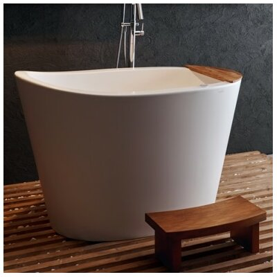 True Ofuro Tranquility Heated Japanese 51.5 x 36.25 Freestanding Air/Whirlpool Bathtub