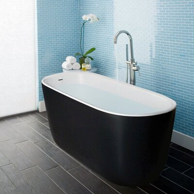 Lullaby Solid Surface 55 x 24 Freestanding Soaking Bathtub