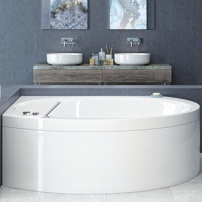 Suri-Wht� 78 x 78  Corner Soaking Bathtub