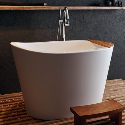 True Ofuro Tranquility 51.5 x 36.25 Freestanding Air/Whirlpool Bathtub