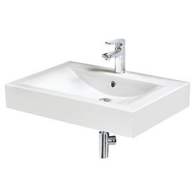 Bravado? Stone Rectangular Vessel Bathroom Sink with Overflow