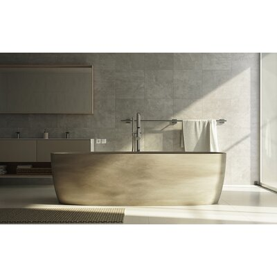 Coletta� 70.75  x 35.5 Freestanding Soaking Bathtub