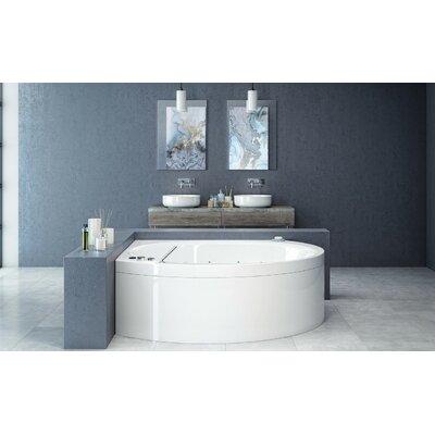 Suri-Wht� 78 x 78 Corner Air/Whirlpool Bathtub