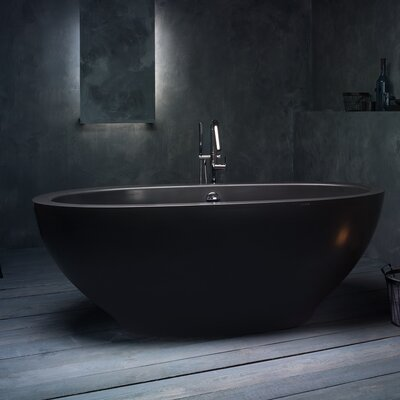 Karolina 70.75 x 35.5 Soaking Bathtub Finish: Black