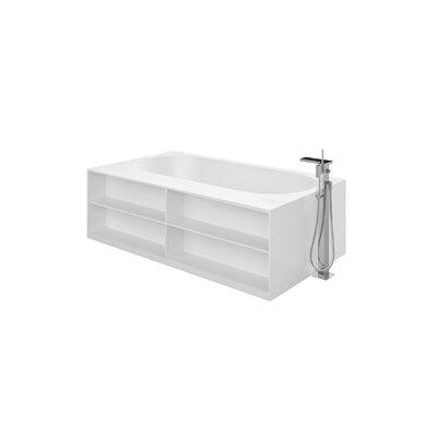 Storage Lovers 69.75 x 39.25 Freestanding Soaking Bathtub