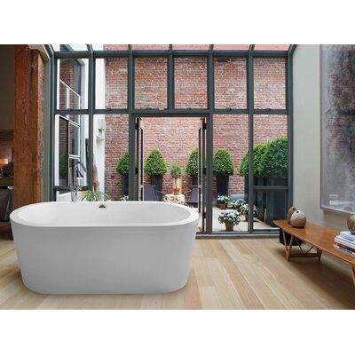 PureScape 59 x 29.5 Freestanding Acrylic Bathtub