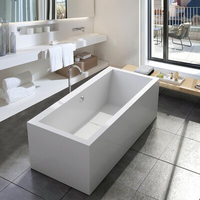 PureScape Aquatica Continental-Wht� 70.75 x 31.5 Freestanding Soaking Bathtub