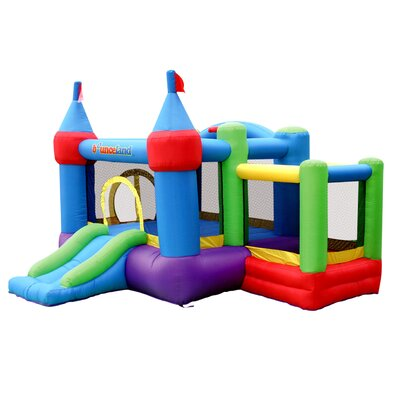 Bounceland Inflatable Dream Castle Bounce House with Ball Pit 9112A