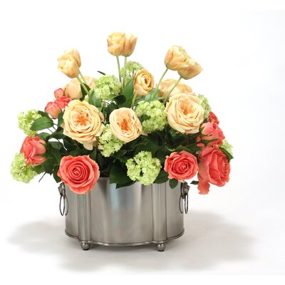 Silk Floral Mix Desk Top Plant in Planter