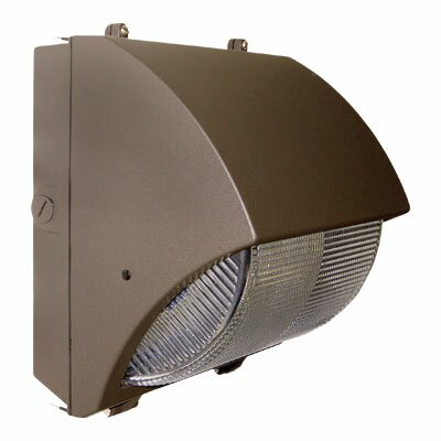Induction Lighting 277 Volts Semi-Cutoff 1-Light Outdoor Wall Light in Bronze
