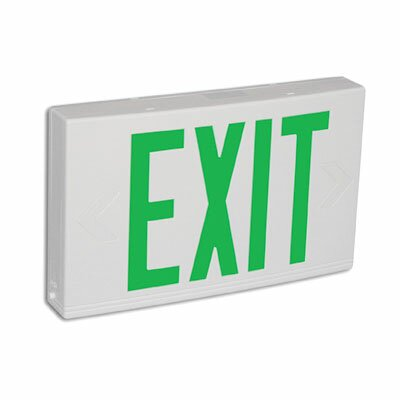 Contractor Grade Thermo Plastic Green LED Exit Sign