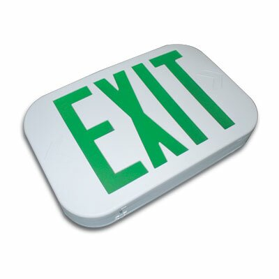 Thermo Plastic Snap Design Exit Sign LED Color: Red