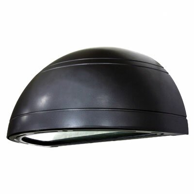 1-Light Outdoor Quarter-Sphere Wall Light in Architectural Bronze
