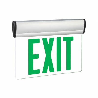 Single Face Green LED Edge Lit Exit Sign