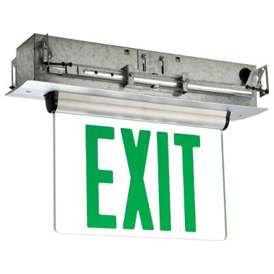 Single Face Universal Mount Green LED Edge Lit Exit Sign