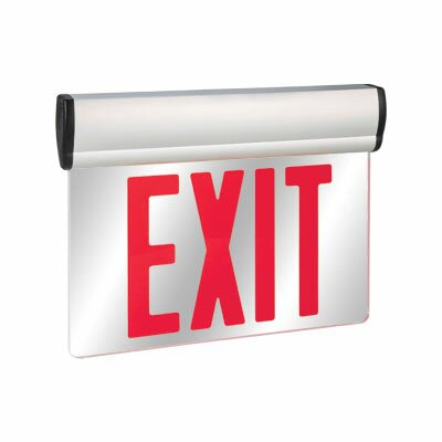 Double Face Red LED Edge Lit Exit Sign