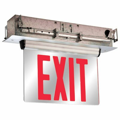 Double Face Universal Mount Red LED Edge Lit Exit Sign