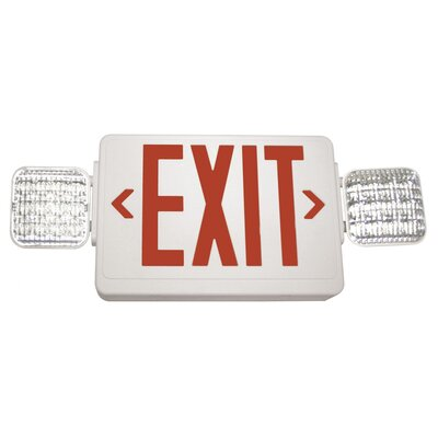 Exitronix Exit/LED Emergency Combo Light Color: Red