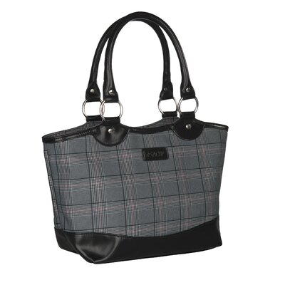 sachi Style 36 Insulated Fashion Lunch Tote - Color: Grey Plaid at Sears.com
