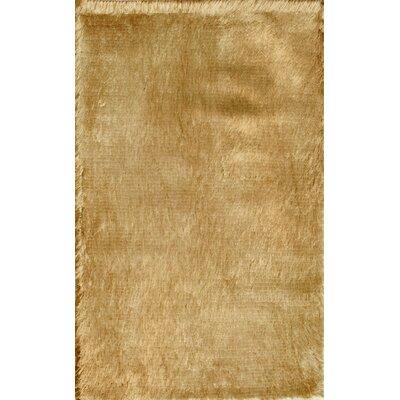 Crystal Solid Brown Rug Rug Size: 5 x 8