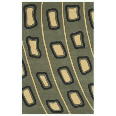 Decor Light Olive Green Area Rug Rug Size: 79 x 106