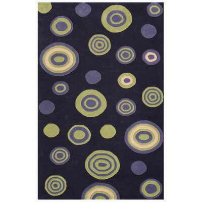 Decor Purple Area Rug Rug Size: 79 x 106