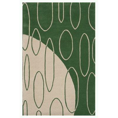 Aria Green Shag Area Rug Rug Size: 79 x 106