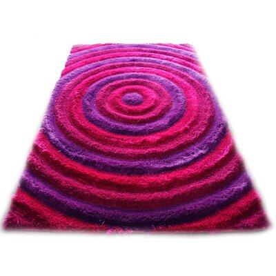 Bristol Pink/Purple Shag Area Rug Rug Size: 8 x 11