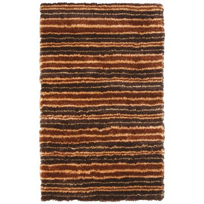 Mirage Brown/Orange Area Rug Rug Size: 5 x 8