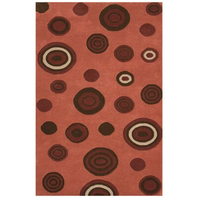 Decor Pink Area Rug Rug Size: 79 x 106