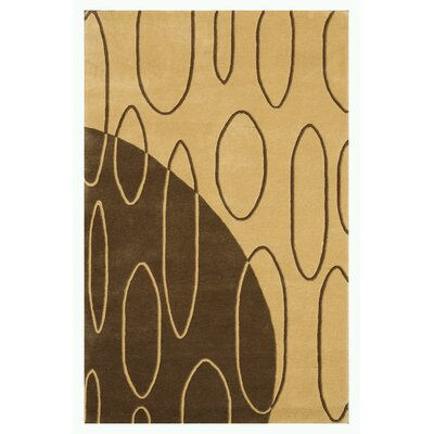 Aria Light Gold Shag Area Rug Rug Size: 79 x 106