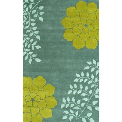 Gardenia Aqua Area Rug Rug Size: 5 x 8