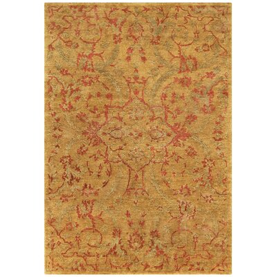 Legacy Gold Area Rug Rug Size: 9 x 12