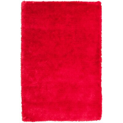 Mirage Red Shag Area Rug Rug Size: 8 x 11