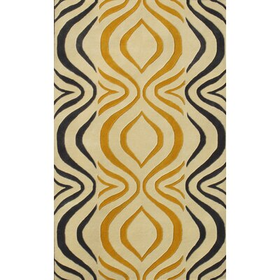 Cologne Gold Area Rug Rug Size: 5 x 76
