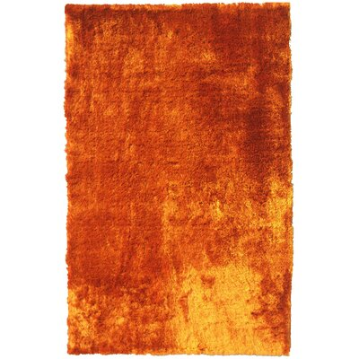 Mirage Copper Shag Area Rug Rug Size: 4 x 6