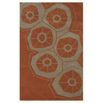 Riviera Rust Area Rug Rug Size: 79 x 106