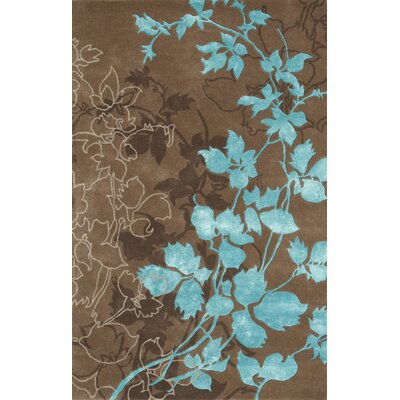 Dahlia Brown & Turquoise Area Rug Rug Size: 79 x 106