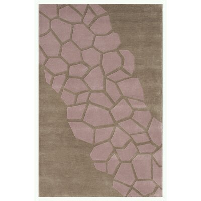 Riviera Pink/Brown Area Rug Rug Size: 5 x 76