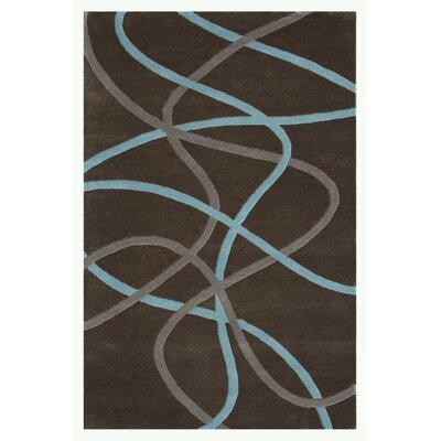 Swirl Charcoal Area Rug Rug Size: 79 x 106
