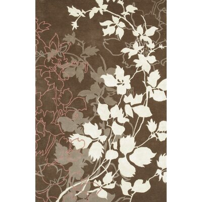 Dahlia Brown & White Area Rug Rug Size: 79 x 106