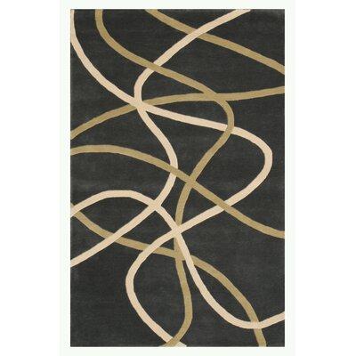 Swirl Gray Area Rug Rug Size: 5 x 76