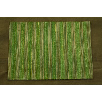 Lazzarro Green Area Rug Rug Size: 79 x 106