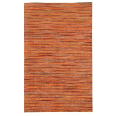Lazzarro Orange Area Rug Rug Size: 79 x 106