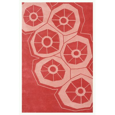 Riviera Light Red Area Rug Rug Size: 79 x 106