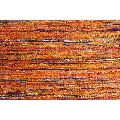 Rainbow Orange Area Rug Rug Size: 8 x 11