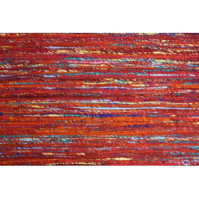Rainbow Red Area Rug Rug Size: 8 x 11